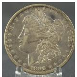 1896-O AU Morgan Silver Dollar