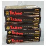 5 Boxes 100 Rds. 223 62gr. FMJ TulAmmo Ammunition