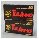 45 ACP 230gr. FMJ Ammo 2 Boxes TulAmmo 100 Rouds