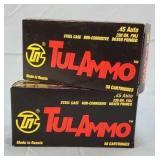 2 Boxes TulAmmo 45 Auto 230gr. FMJ 100 Rds. Ammo