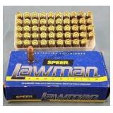 50 Rounds Speer Lawman 357 Sig 125gr. TMJ Ammo
