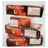 200 Rds 4 Boxes Monarch Steel 9mm 115gr FMJ Ammo
