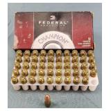 50 Rnd. Box Federal Champion 9mm 115gr FMJ Ammo