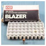 Box of 50 CCI Blazer 380 Auto 95gr TMJ Ammo