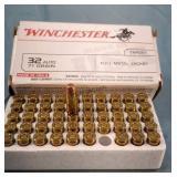Box of 50 Winchester 32 Auto 71gr FMJ Ammunition
