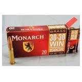 Box of 20 Monarch 30-30 150gr. FSP Ammo