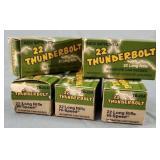 5 Box 250 Rds. Remington Thunderbolt 22lr Ammo