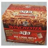 333 Round Box Winchester 22lr CPHP Ammo
