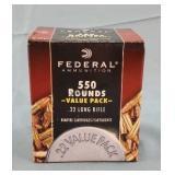 Federal 22lr CPHP 550 Round Box of Ammunition