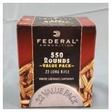 Federal 550 Round Box 22lr CPHP Ammunition