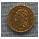 1836 Gold Classic Head $2.50 Dollar Quarter Eagle