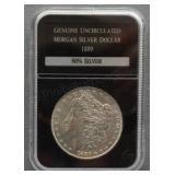 1889 Morgan Uncirculated Silver Dollar