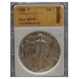 1988-P Silver American Eagle Dollar SGS MS-70