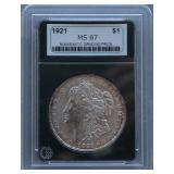 1921 Morgan NGP MS-67 Silver Dollar