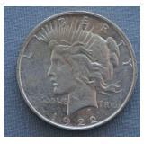 1922-D BU Peace Silver Dollar