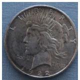 1922-S BU Peace Silver Dollar