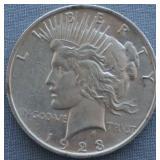 1923 BU Peace Silver Dollar