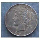 1923-S BU Peace Silver Dollar