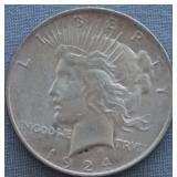 1924 BU Peace Silver Dollar