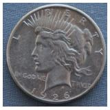 1926-S BU Peace Silver Dollar