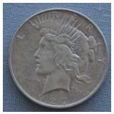 1927-D AU Peace Silver Dollar
