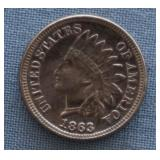 1863 Indian Head .01 Cent Penny Coin