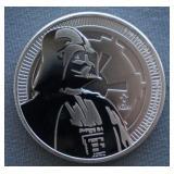 2017 1oz Silver Niue Star Wars Darth Vader BU Coin