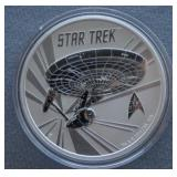 2016 1oz Silver 50th Ann Star Trek USS Enterprise