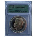 1974-S Eisenhower ICG PR-69 DCAM Silver Dollar