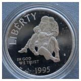 1995-P Silver Civil War Comm Liberty $1 Dollar