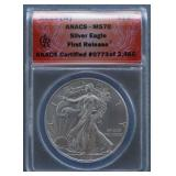 2015-W Silver American Eagle MS-70 First Release