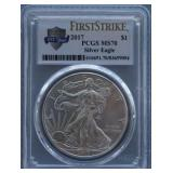 2017 Silver American Eagle PCGS MS-70 First Strike