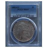 1882-CC Morgan PCGS MS-64 Silver Dollar