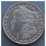 1896 Morgan AU+ Silver Dollar