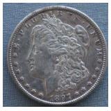 1897-S Morgan AU Silver Dollar