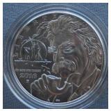 2016 Proof Mark Train Silver Dollar Commemorative