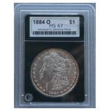 1884-O Morgan NGP MS-67 Silver Dollar