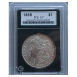 1885 Morgan NGP MS-67 Silver Dollar
