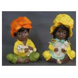 1974 Universal Statuary Black Boy & Girl Figurines