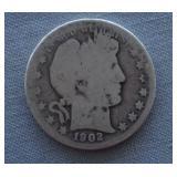1902-O Barber Silver Half Dollar
