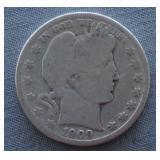 1909-O Barber Silver Half Dollar