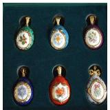 House of Faberge Christmas Egg Ornament Set of 6