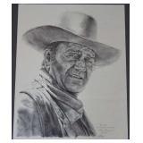 Gary Guffre Signed John Wayne Print Chisum II