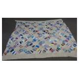 Vintage Hand Made Full Size Quilt Top