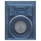 1999-S Connecticut Silver Proof Quarter PR68 DCAM
