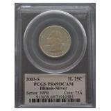 2003-S Illinois Silver Proof Quarter PR69 DCAM