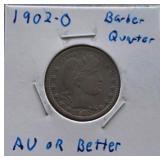 1902-O Barber Quarter