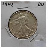 1943 Walking Liberty BU Half Dollar
