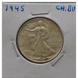 1945 Walking Liberty BU Half Dollar
