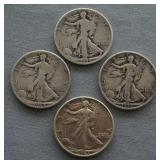 1936 1943s 1944 1944d Walking Liberty Half Dollars